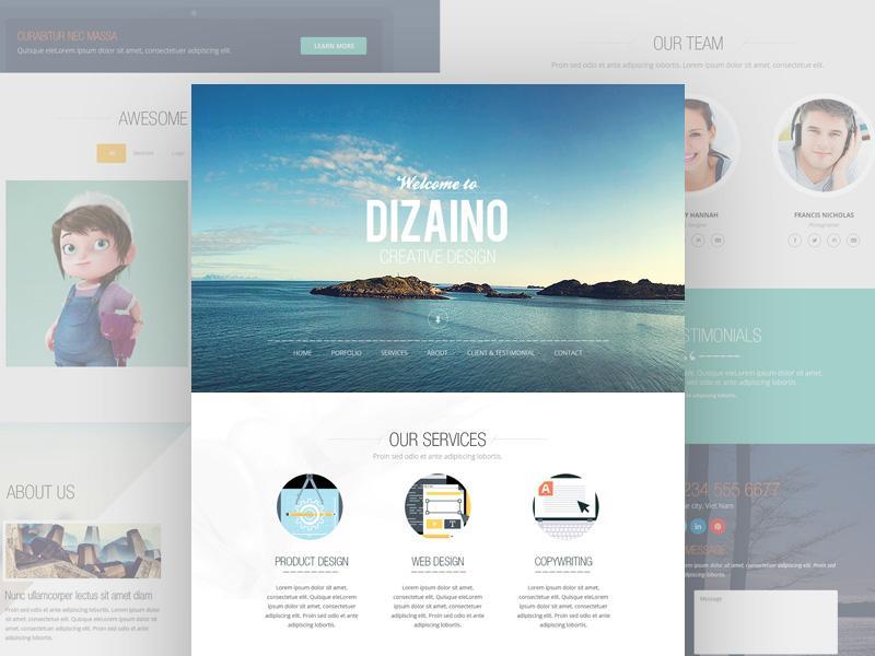dizaino_one_page_template