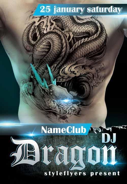 dj_dragon_free_flyer_template