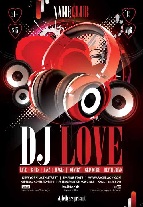dj_love_free_flyer_template