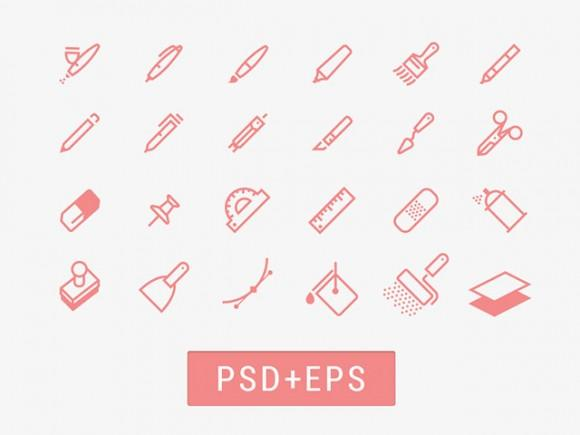 drawing_tools_icons_psd