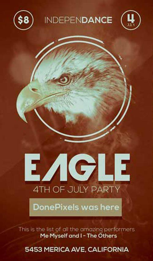 eagle_4th_of_july_free_flyer_psd_template
