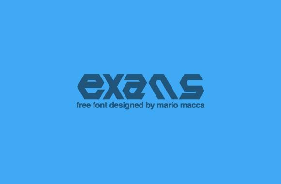 exans_free_font
