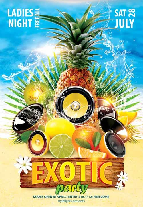 exotic_party_free_flyer_template