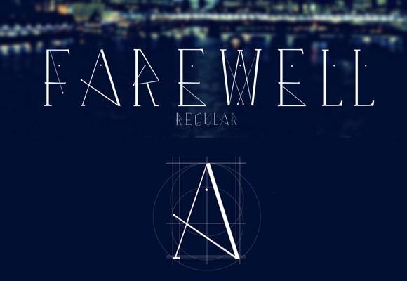 farewell_regular_free_font