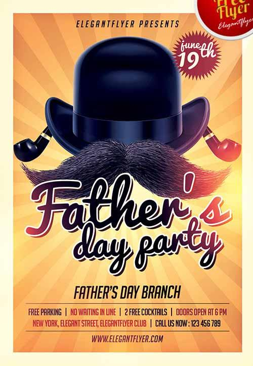 fathers_day_party_free_flyer_template