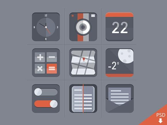 free_flat_icon_set_psd