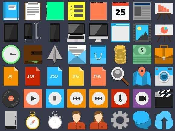 75_flatstyle_psd_icons