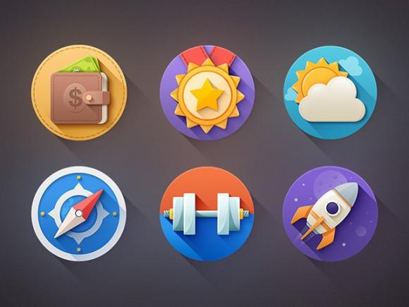 6_flat_icons_with_shadows_psd