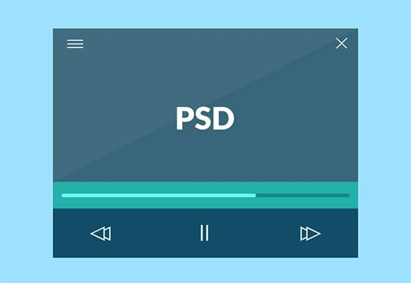 flat_minimal_video_player