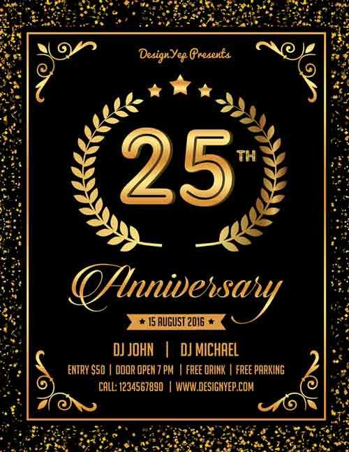 free_anniversary_party_flyer_psd_template