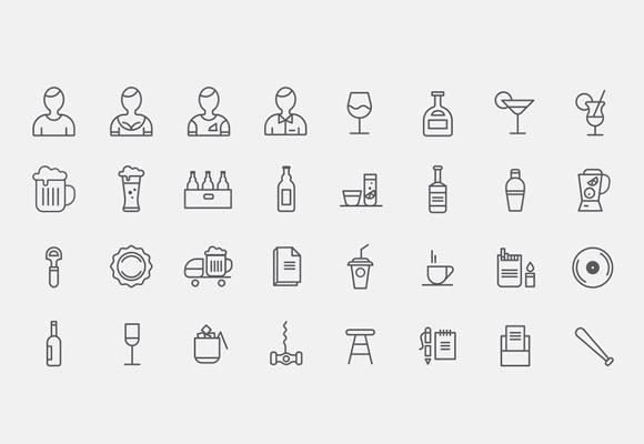 32_bar_icons_free_psd