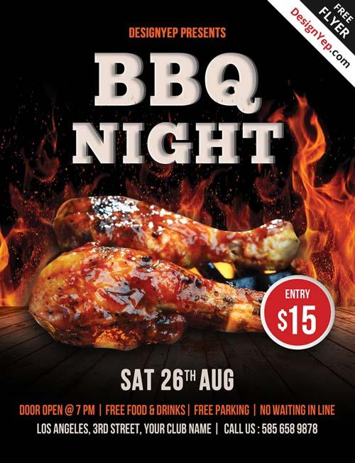 free_barbecue_night_psd_flyer_template