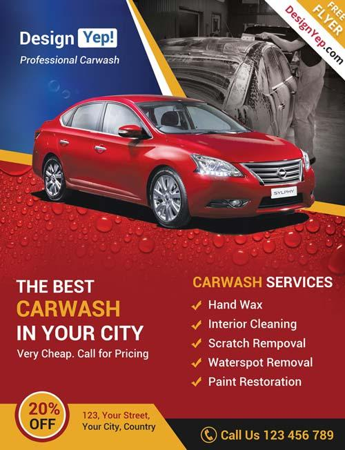 car_wash_business_free_psd_flyer_template