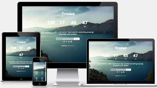 40 free html coming soon maintenance under for Free responsive website templates