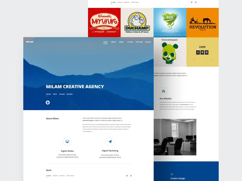 milam_agency_website_template