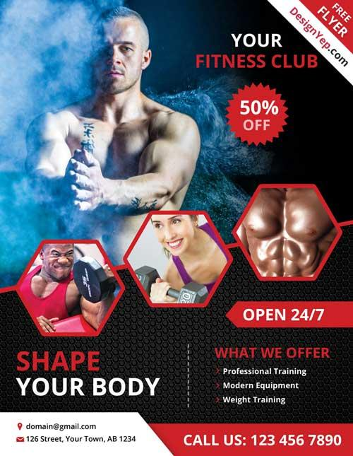 free_fitness_and_gym_psd_flyer_template