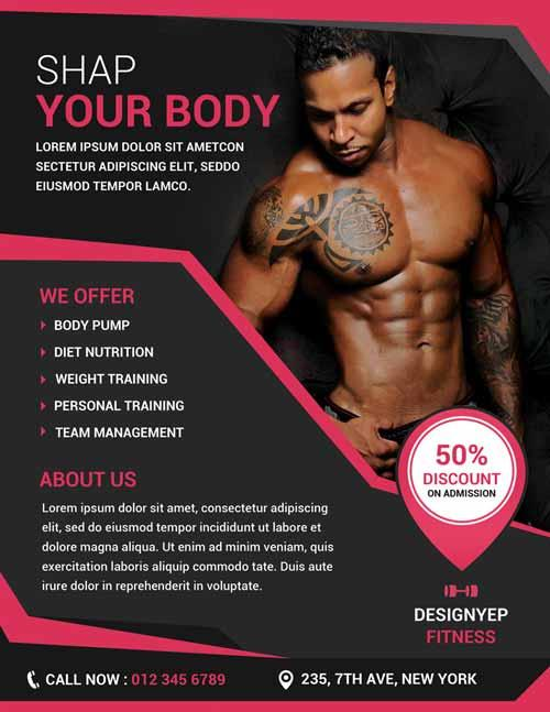 free_fitness_and_gym_flyer_psd_template