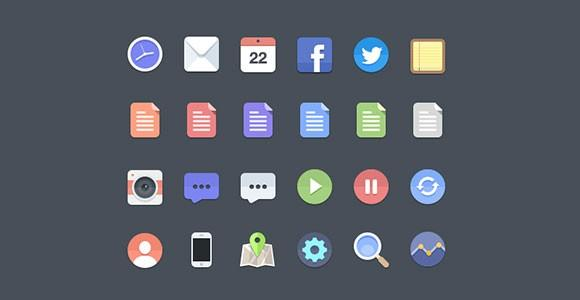 some_free_flat_icons_psd