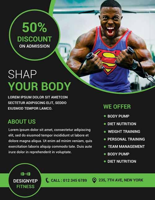 gym_and_fitness_free_flyer_psd_template