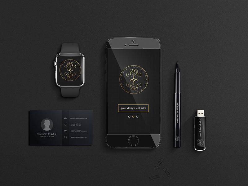 30 beautiful free iphone mockups templates utemplates this resource contains the following objects apple watch iphone business card pen and a stick reheart Gallery