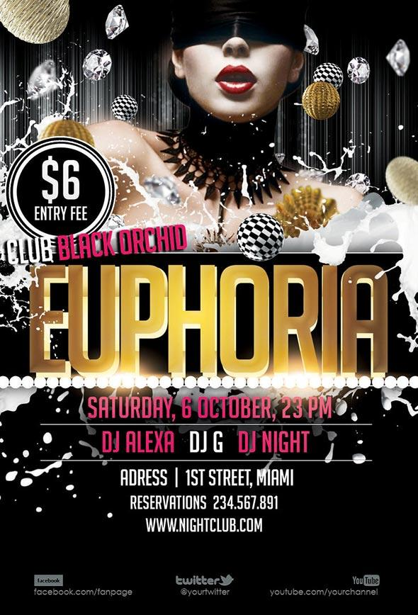 free_euphoria_club_dance_flyer_templates
