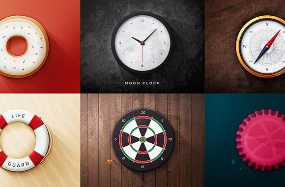 6_realistic_round_icons_psd