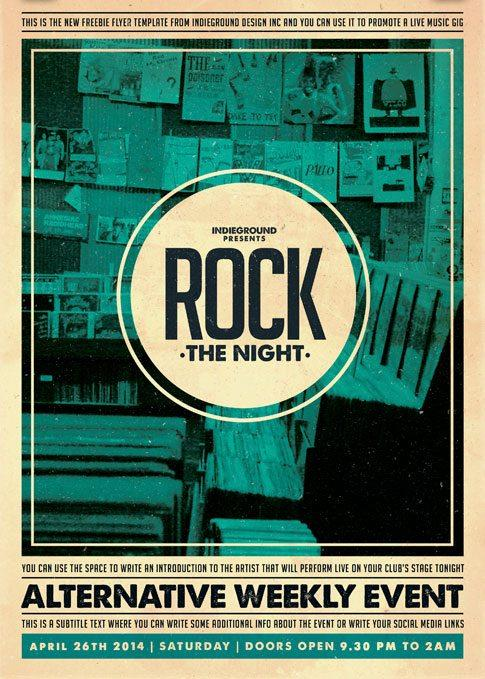 20 free indie rock music events flyers templates utemplates