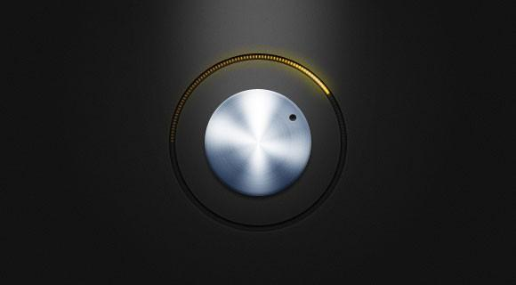 free_psd_metal_knob_with_yellow_led_lights