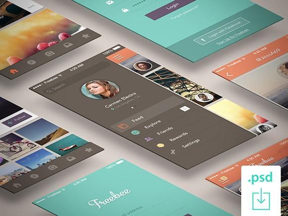 freebee_free_psd_app_concept
