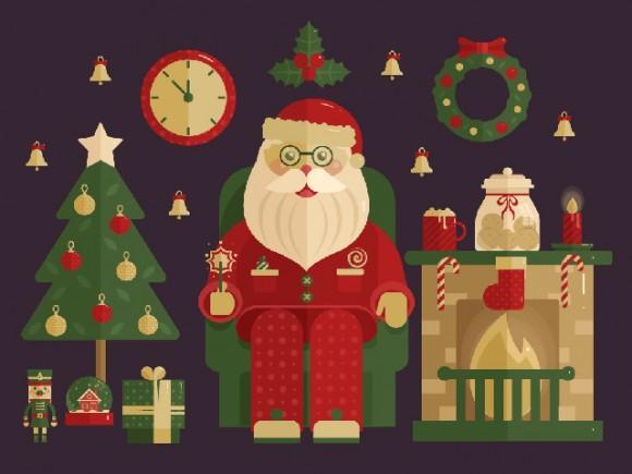 100_christmas_vector_icons