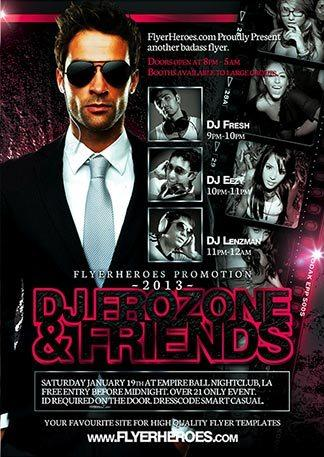 frozone_dj_party_free_psd_flyer_template
