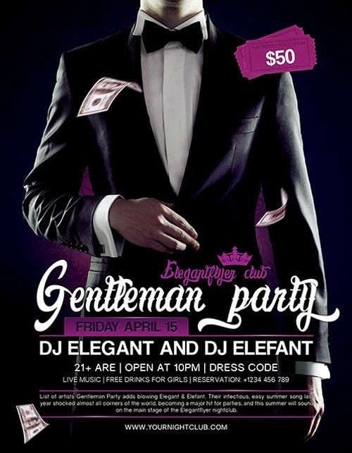 gentleman_party_free_psd_flyer_template