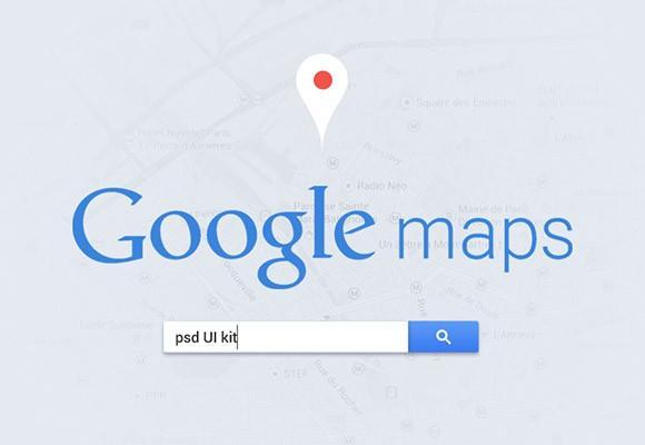 google_maps_ui_psd