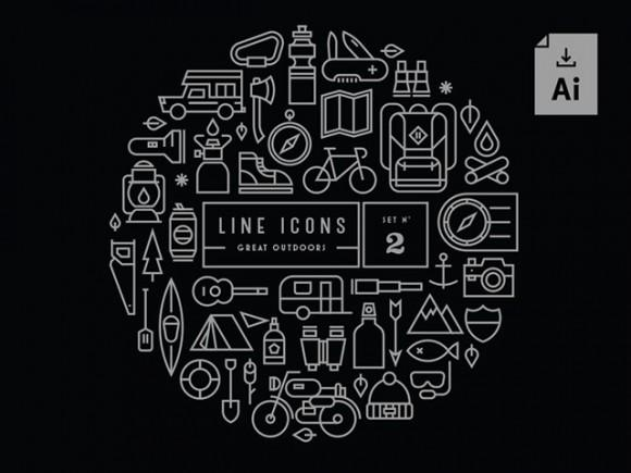 gravual_line_icons_set_2_great_outdoors