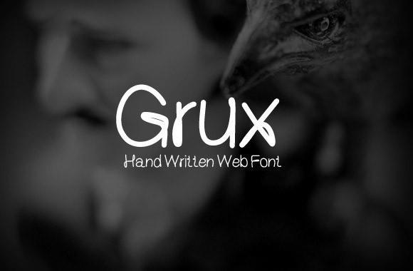 grux_free_handwritten_font