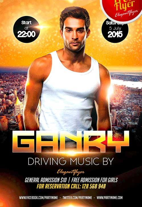 free_guest_dj_party_flyer_template