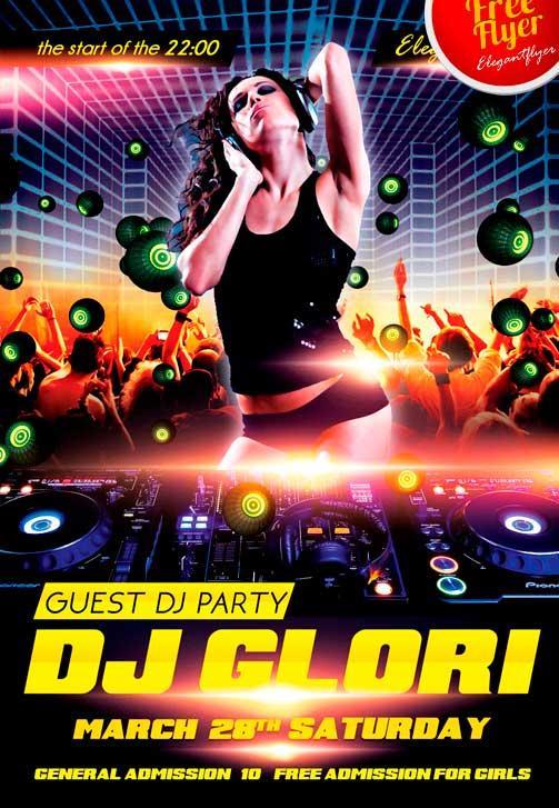 80 Creative Free DJ Flyers [PSD Templates] | UTemplates