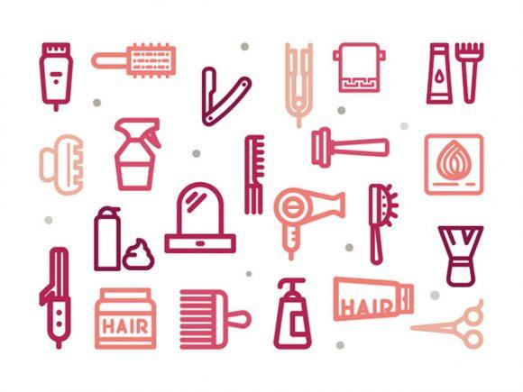 30_hair_salon_outline_icons
