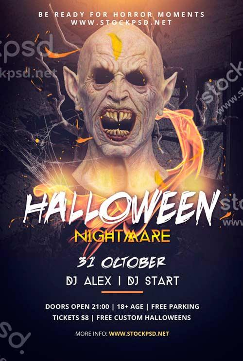 halloween_nightmare_free_psd_flyer_template