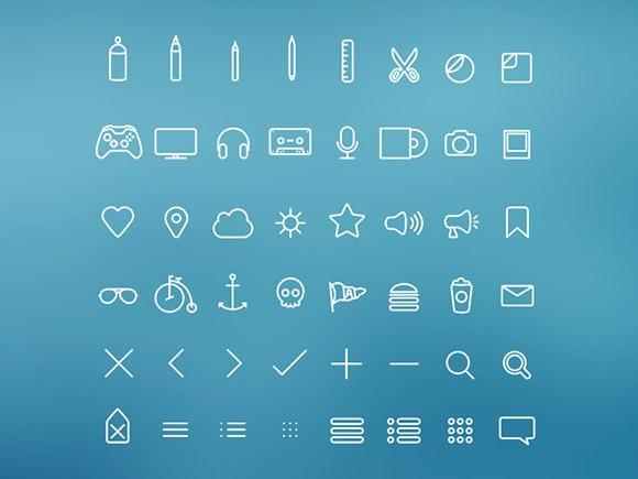 hangloose_50_psd_thin_icons