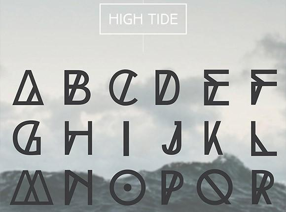 high_tide_free_font_family