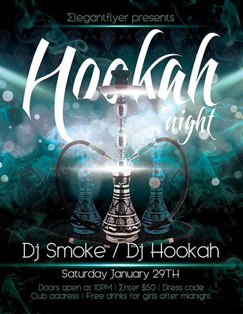 hookah_night_free_psd_flyer_template