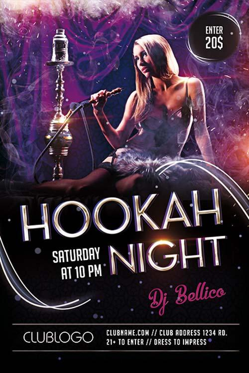 1hookah night lounge free flyer template hookah_night_lounge_free_flyer_template
