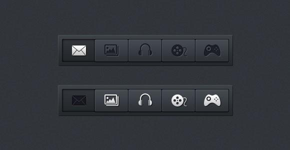 horizontal_navigation_menus_psd