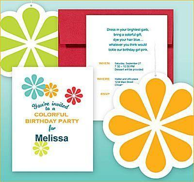 Colorful Birthday Party Invitations By Hoestess With The Mostess