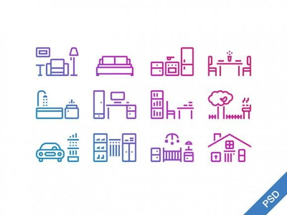 12_outline_house_icons