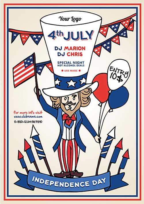 independence_day_party_free_flyer_template