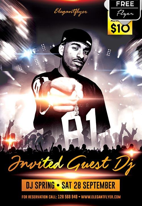 invited_guest_dj_free_flyer_template