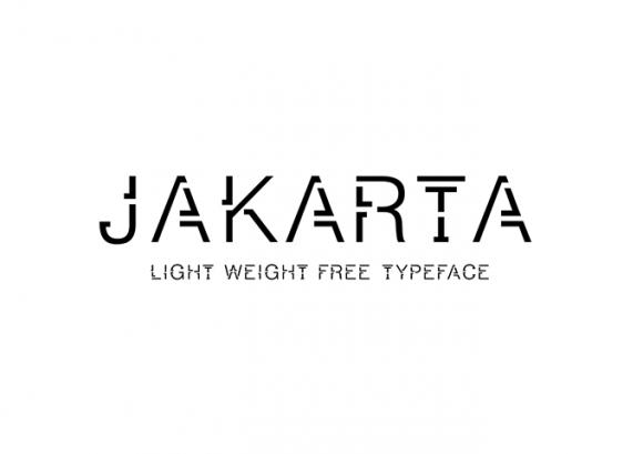 jakarta_a_free_light_weight_font