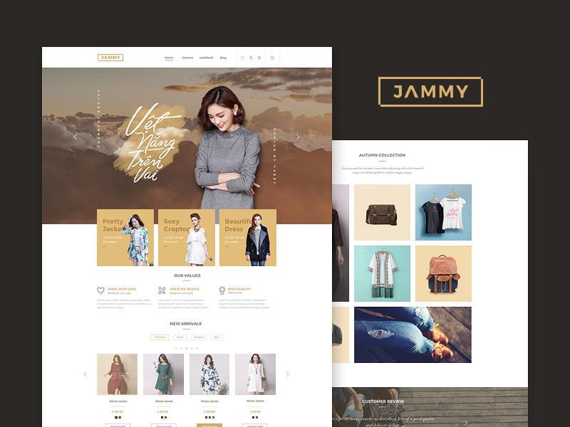 jammy_ecommerce_website